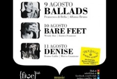 five labs,marina di pisciotta,ballads,denise,bare feet,francesco di bella 24 grana,alfonso bruno nani sordi,songs for ulan,enoteca perbacco