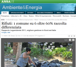 comuni ricicloni 2011,salerno differenziata,dati raccolta differenziata salerno 2011,comune di salerno,raccolta differenziata